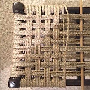Sarah Booth Seagrass stool seat repair